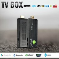 MK809 IV Android 4.4 TV Dongle del palillo RK3128 Quad-Core 1G / 8G Full HD Mini PC Kodi XBMC Miracast DLNA H.265 WiFi TV Dongle Airplay