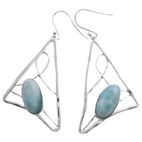beautiful handcrafted jewelry - Larimar earrings Jewelry for Valentine s gift pure handcrafted beautiful color available for women for E3057L