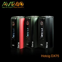 authentic selling - Hotcig dx75 w TC box mod fit battery hot selling authentic new e cigs EVOLV DNA75 Chip vape mods Support ohm Tank