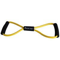Wholesale figure type resistance band exercise tube yoga pull up equipment yellow for and kylin sport