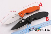Cheap 2016 new knife DA39 big spyderco folding knife pocket knife rescue knife fruit knife cuting tools free shipping