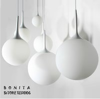 Wholesale D15 cm Hanging light Modern minimalist Creative Spherical Glass lamp fixture Milky White Ball Pendant Lamp