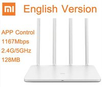 Wholesale Original Xiaomi WIFI Router English Version Mbps WiFi Repeater G GHz MB Dual Band APP Control WiFi Wireless Routers