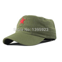 military hats - Hot Sale Vintage Unisex Women Men Patrol Fatigue Army Cap Fabric Adjustable Red Star Outdoor Sun Casual Military Hat