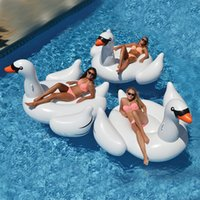 lounges pool - 2016 New Hot Selling Adult Child Summer Lake Swimming Water Lounge Pool Giant Rideable Swan Inflatable Float Toy White