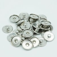 Wholesale 200pcs mm Noosa Metal Snap Button Base Interchangeable Jewelry Accessory Ginger Snap Button Base