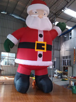 Wholesale giant mH inflatable celebration decoration inflatable Santa Claus for advertising with fee air blower