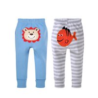 baby long john - strip Children Pants Kid s Cotton Thickening Harem Pants Autumn and winter baby long pieces Long Johns