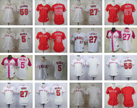 albert mix - Women calhoun Mike Trout Albert Blank White Red Women Baseball jerseys Top Quality Baseball jersey Drop Shipping Can Mix orders