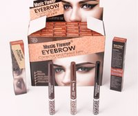 Wholesale New hot MUSIC FLOWER Color Eyebrow Pencil and Gel Double Side Multifunction Longlasting Waterproof Eyebrow Corrector and Pencil Hr