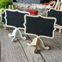 Wholesale Zakka Wooden mini blackboard set For Wedding Party Decorations chalkboards Message board Teaching Stationery