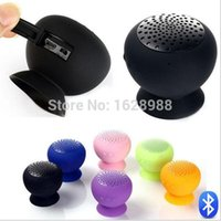audio control devices - Cute Mini Wireless Bluetooth Speaker Silicone Sucker Hands Free Speakers for iPhone Android Devices PC Computer