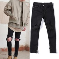 asia jeans - Jeans Distressed Skinny Slim Tapered Pencil Pants Asia Size FOR Men Streetwear