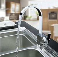 Wholesale New Hot Sale Solid Chrome Multi Function Swivel Spout Kitchen Sinks Faucet Mixer Tap Double Sinks