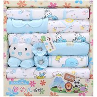 Wholesale 2016 Baby clothing Newborn Infant Child gift Sets Baby Layette Sets Kids clothes boy girl Common three colors Four Seasons can wear
