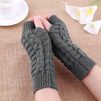 Wholesale Fashion Unisex Men Women Knitted Fingerless Winter Gloves Soft Warm Mitten new sale