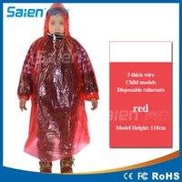 Wholesale 100 Sijia thick raincoat paragraph Children Poncho New Waterproof Kids Rain Coat For children Raincoat Rainwear