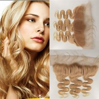 Wholesale Brazilian Frontal Body Wave Lace Frontal with Baby Hair Human Hair Blonde Bundles A Virgin Hair