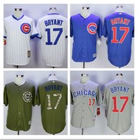 Wholesale cheap Men Kris Bryant JERSEY White grey blue Cool Base baseball Jerseys support mixed order Basketball footba