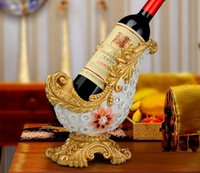 antique gold vase - Environmental Protection Resin Wine Rack Splendid Crystal Vase Luxury Creative Gifts European Court Home Furnishing Decoration