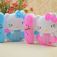 Wholesale kids toy phone baby early education cartoon music cell phone sing shine hello kitty
