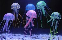 Wholesale New Cute Fluorescent Glowing Effect Jellyfish Aquarium Fish Tank Ornament Swim Pool Bath Decoration