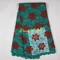 Wholesale PING gold green yellow blue nylon cotton polyester fabric lace dress fabric macrame lace fabric Daisy