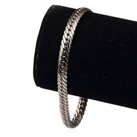 Wholesale Massic Mens Jewelry k White Gold Filled Fashion Bracelet Chain Gift