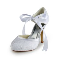 almonds cheap - Lace White Pink Blue Ivory Wedding Dress Shoes CM Pointed Toe Women Cocktail Evening Prom Street Fall Bridal Accessories Cheap