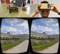 Wholesale New DIY Google Cardboard Mobile Phone Virtual Reality D Glasses Unofficial Cardboard Google Cardboard VR Toolkit D Glasses