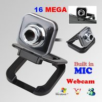 Wholesale New USB Mega HD Webcam Video Camera With Microphone Mic For PC Laptop Free drop ship
