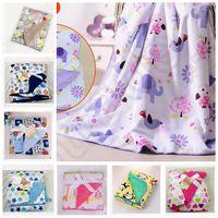 baby side sleeping - 19 design KKA130 Baby Security Monkey Swaddle Print Child Toddler Sleep Nap Blanket Soft Secure Double Sides Blanket Bath Towels