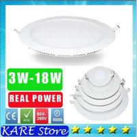 Wholesale 20 real power LED Panel Light dimmale W w W W W W W w Led Ceiling Recessed Grid V Ultra thin SMD Down Light Lamps