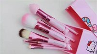 Cheap New Hello Kitty 8 Jian Makeup Brush set professional Makeup tools portable storage box full set of factory outlet DHL Free shipping