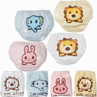 baby underwears - Cartoon Infant Cotton Under Panties Cute Animal Printed Under BB Underwears Pants Baby Triangle Pants Kids Children Briefs QQA262