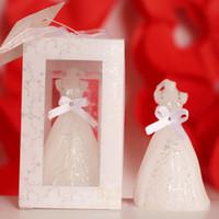 Los regalos de boda del favor de partido de los regalos del favor de la vela del vestido de boda para los regalos de cumpleaños de los recuerdos de la boda del huésped DHL liberan el envío