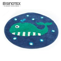 babies handmade rug - Sea Creature Cartoon Floor Rug Cotton cm Round Kids Baby Children Handmade Carpet Mat Anti slip tapete For Living Room