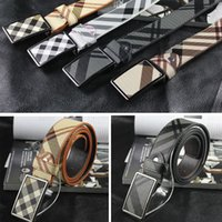 Cinturones de diseño de tela escocesa para los hombres Cinturones de lona de la hebilla del Pin del cuero genuino de las mujeres de la marca de fábrica de la alta calidad Ceinture Homme Feamle Cintos