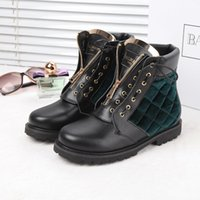 Wholesale Suede Ankle Boots Low Heel - 2016 Winter Hot Arrivals Balmain Womens Brand Cowhide Leather Fashion Non Slip Ankle Boots 35 42