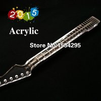 Wholesale DIY Acrylic Guitar Neck ST Styles Neck Transparent Neck