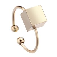 anniversary gift ideas for women - 10pcs Simple Cube Rings Cube Geometric Rings in Gold or Silver for Fashion Women Girls Anels Gift Idea