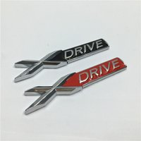Wholesale 2Pcs Metal D X DRIVE Xdrive Emblem Chrome Badge Side Logo Car Body Stickers Decal for BMW Series X5 E70 X6
