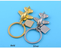 Wholesale NEW Fashion small plane in Germany metal alloy Key Chain Key Holder keychains best gift ZA0074