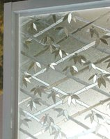 Wholesale 3D Bamboo Static glass windower film self adhesive offce window Privacy sticker width60cm cm