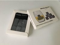 Wholesale ice whiskey srone whisky rocks whisky stones beer stone set with retail box ice stone Barware