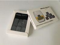 Wholesale ice whiskey srone whisky rocks whisky stones beer stone set with retail box ice stone Barware