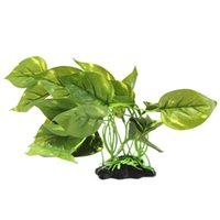 Wholesale 1PC Hot Sale Artificial Fake Plant Green Plastic for Aquarium Fish Tank beautiful Decoration Ornament