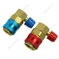 air tool coupler - 1pair AC R134a QC15 Quick Connector Adapter Coupler Car Auto Air Conditioning For Home Tool