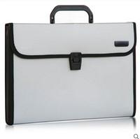 Cheap Wholesale-Document office paper box ring binder expanding file organizer pocket folder portfolio case a4 bag 5555#