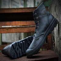 assault band - Fashion Palladium High top Assault Tactical Military Boots Men s Outdoor Desert Boots Leather Winter boots women Snow Boots SIZE